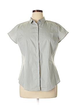 Worthington Short Sleeve Button-Down Shirt Size XL (Petite)