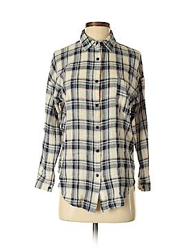 Ya Long Sleeve Button-Down Shirt Size S