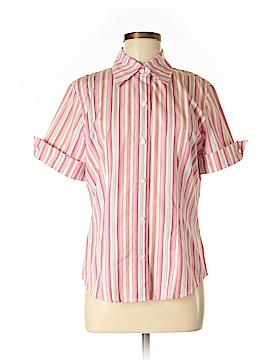 Dana Buchman Short Sleeve Button-Down Shirt Size 8