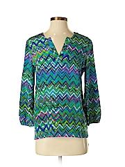 Amanda Uprichard 3/4 Sleeve Silk Top
