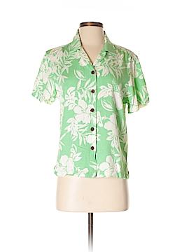Caribbean Joe Short Sleeve Blouse Size S