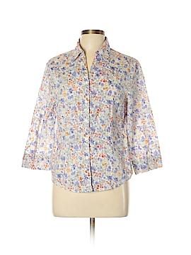 Alfred Dunner Long Sleeve Button-Down Shirt Size 12