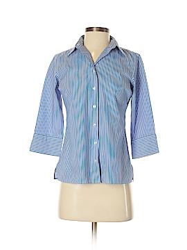 Lands' End Long Sleeve Button-Down Shirt Size 2 (Petite)