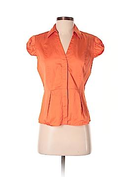AK Anne Klein Short Sleeve Button-Down Shirt Size 2
