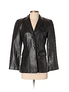 INC International Concepts Leather Jacket Size 4 (Petite)