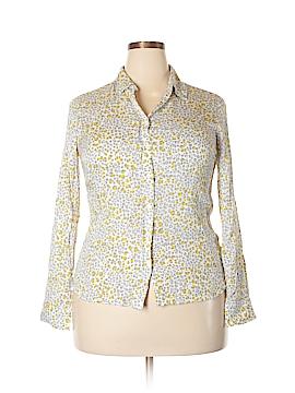 Kenar Long Sleeve Button-Down Shirt Size L