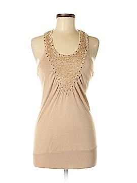 Heart Sleeveless Silk Top Size S
