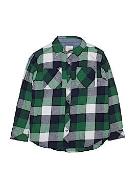 Weatherproof Long Sleeve Button-Down Shirt Size 10 - 12