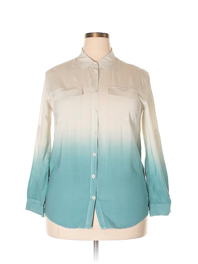 TOBI Women Long Sleeve Button-Down Shirt Size M