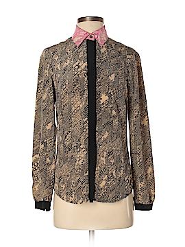 Trina Turk Long Sleeve Silk Top Size P