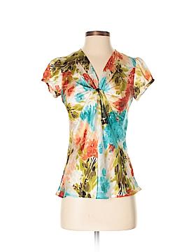 Sunny Leigh Short Sleeve Blouse Size P (Petite)