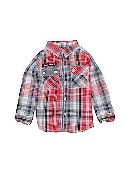 Guess Long Sleeve Button-Down Shirt Size 24 mo