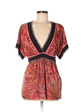 Vivienne Tam Short Sleeve Blouse Size M