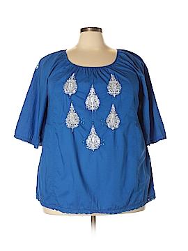 Style&Co 3/4 Sleeve Blouse Size 1X (Plus)