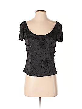 Zelda Short Sleeve Silk Top Size 4