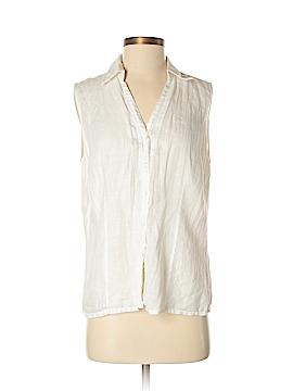 Amanda Smith Sleeveless Button-Down Shirt Size M