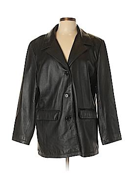 Hillard & Hanson Leather Jacket Size XL