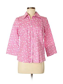 Lands' End 3/4 Sleeve Button-Down Shirt Size 8 (Petite)