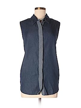 Reed Sleeveless Button-Down Shirt Size XL