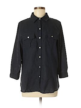 Chaus 3/4 Sleeve Button-Down Shirt Size M