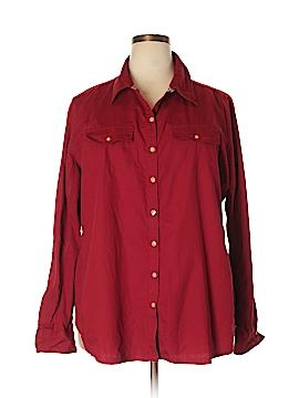 Converse Long Sleeve Button-Down Shirt Size 4X (Plus)