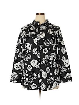 Roaman's 3/4 Sleeve Button-Down Shirt Size 18 (Plus)