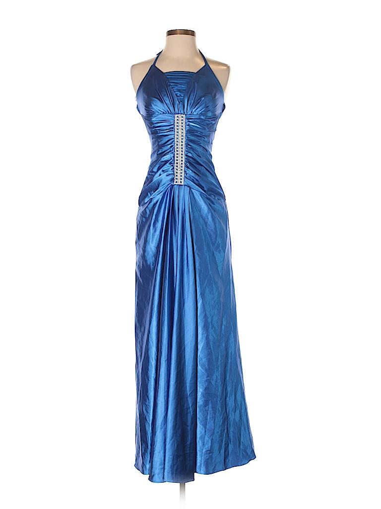 Jessica McClintock Solid Blue Cocktail Dress Size 4 - 75% off | thredUP