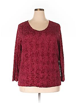 Silk Land Long Sleeve Blouse Size 2X (Plus)