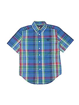 Chaps Short Sleeve Button-Down Shirt Size 8