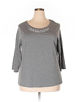 St. John's Bay 3/4 Sleeve T-Shirt Size 2X (Plus)