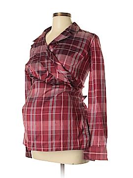 Mimi Maternity Long Sleeve Silk Top Size L (Maternity)