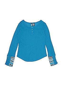 MissUnderstood Long Sleeve Henley Size L (Kids)
