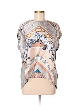 Zara W&B Collection Short Sleeve Blouse Size M