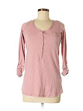 Zara Basic Long Sleeve Henley Size M