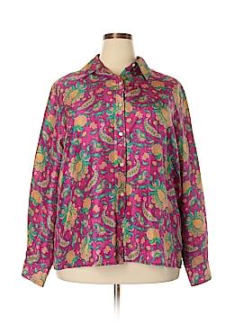 Lauren by Ralph Lauren Long Sleeve Silk Top Size 3X (Plus)
