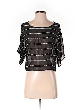 Trendology Short Sleeve Silk Top Size S