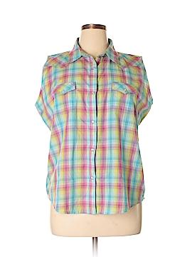 Wrangler Jeans Co Sleeveless Button-Down Shirt Size XL