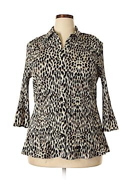 Laura Scott 3/4 Sleeve Button-Down Shirt Size 16 - 18