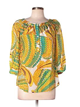 Banana Republic Trina Turk Collection 3/4 Sleeve Blouse Size 10