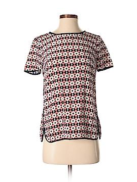 J. Crew Short Sleeve Silk Top Size 2