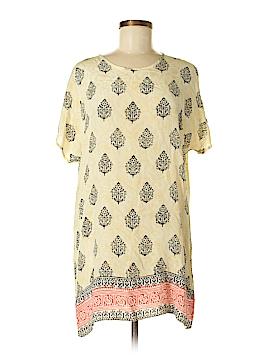 Tolani Short Sleeve Silk Top Size S