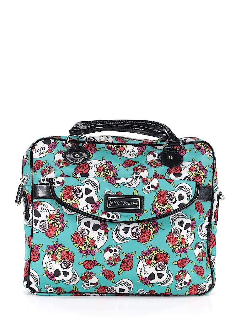 0f37f0b8c Betsey Johnson Print Teal Laptop Bag One Size - 73% off | thredUP