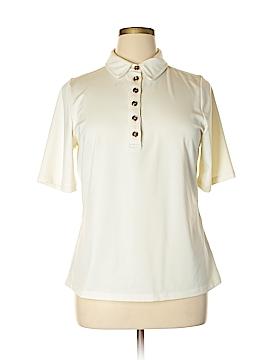 Susan Graver Short Sleeve Polo Size L