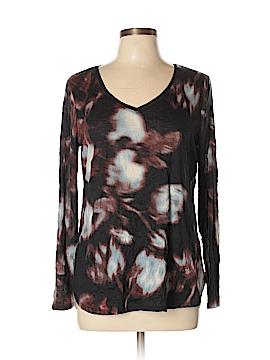 Simply Vera Vera Wang Long Sleeve T-Shirt Size L (Petite)