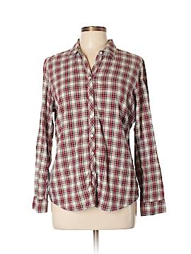 Eddie Bauer Long Sleeve Button-Down Shirt Size L