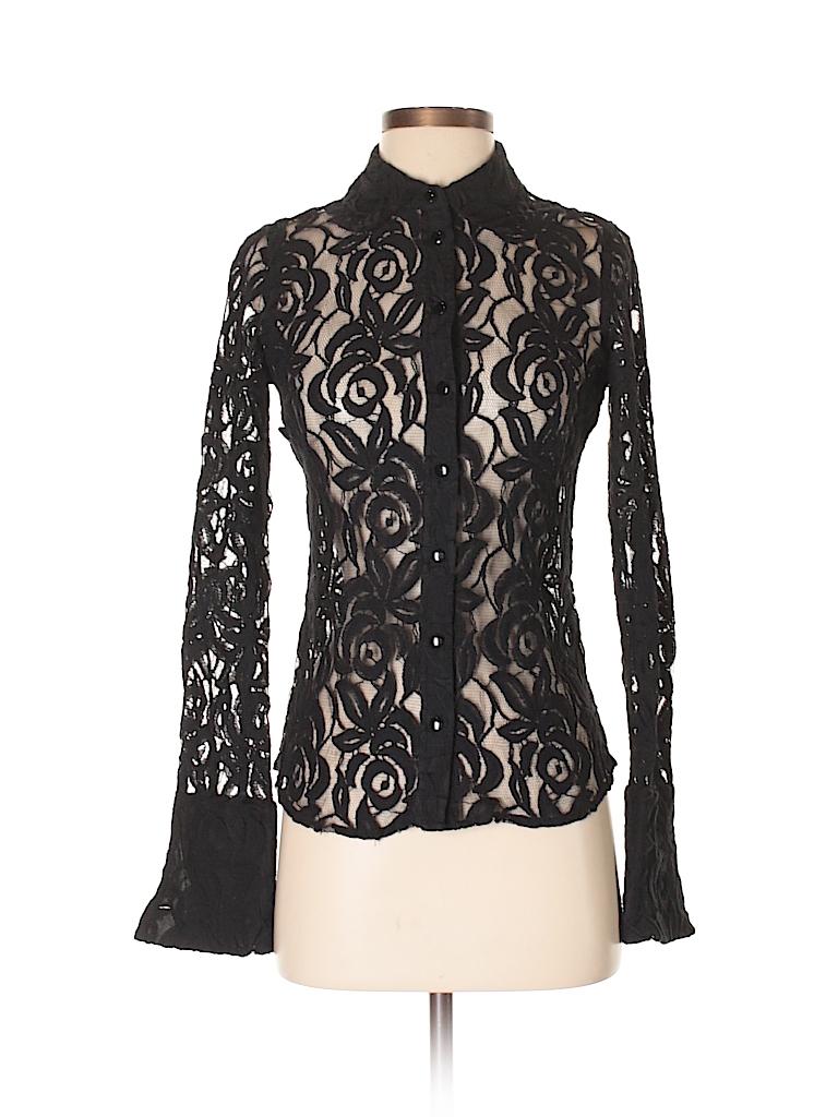 INC International Concepts Women Long Sleeve Button-Down Shirt Size 2