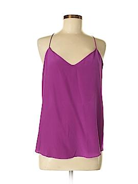 Lavender Brown Sleeveless Silk Top Size M