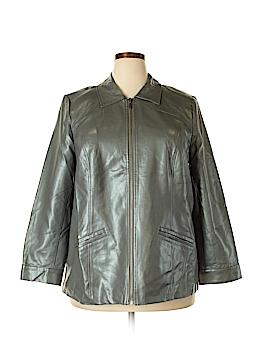Catherines Faux Leather Jacket Size 0X (Plus)
