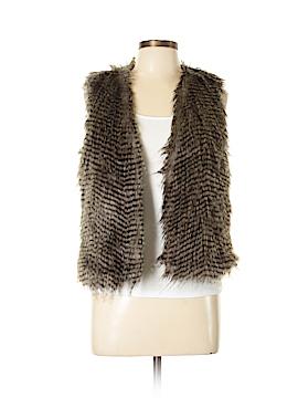 Just Fab Faux Fur Vest Size L
