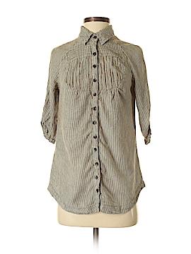 MNG Basics Short Sleeve Button-Down Shirt Size XS